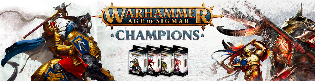 Age of Sigmar Champions Dekcs and Boosters