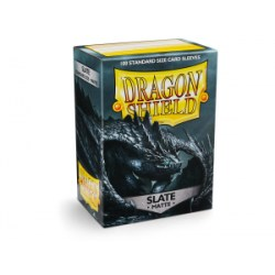 Dragon Shield Standard Sleeves - Matte Slate - матови протектори за карти (тъмно-сиви) 100 бр. в LCG, 63.5x88 мм)
