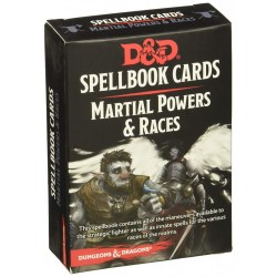 Dungeons & Dragons RPG 5th Edition: Spellbook Cards (2017) - Martial Powers and Races Deck (61 Cards)
