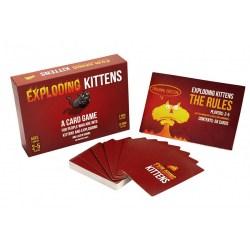 Exploding Kittens: Original Edition (2-5 играча) - настолна игра Експлодиращи котета, английско издание