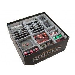 FS-SWR Insert compatible with Star Wars Rebellion and the Rise of the Empire expansion in Box organizers