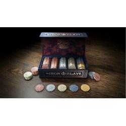 Iron Clays: Limited Brass Edition - комплект 100 броя супер луксозни покер чипове в Аксесоари
