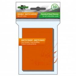 Протектори за карти 63.5x88мм Blackfire Sleeves - Standard Double-Matte Orange Sleeves (50, оранжеви) в LCG, 63.5x88 мм)