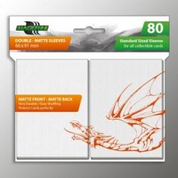 Blackfire Sleeves - Standard Double-Matte White Sleeves (80) in Standard Size (Magic, LCG игри и др., 63.5x88мм размер на картите)
