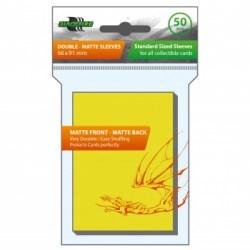 Протектори за карти 63.5x88мм Blackfire Sleeves - Standard Double-Matte Yellow Sleeves (50, жълти)