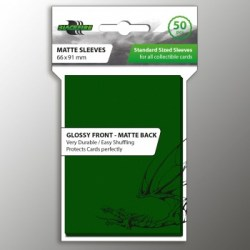 Протектори за карти 63.5x88мм Blackfire Standard Sleeves - Green Sleeves (50, зелени) в LCG, 63.5x88 мм)