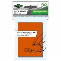 Blackfire Standard Sleeves - Orange Sleeves (50) in Standard Size (Magic, LCG игри и др., 63.5x88мм размер на картите)