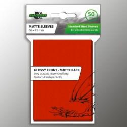 Протектори за карти 63.5x88мм Blackfire Standard Sleeves - Red Sleeves (50 броя, червени)