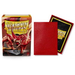Dragon Shield Standard Sleeves - Ruby - матови протектори за карти (рубин) 100 бр. в LCG, 63.5x88 мм)