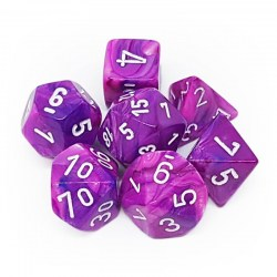 Polyhedral 7-Die Set: Chessex Festive Violet & White in Dice sets