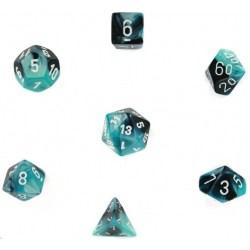 Комплект D&D зарове: Chessex Gemini Black-Shell & Green в Зарове за игри