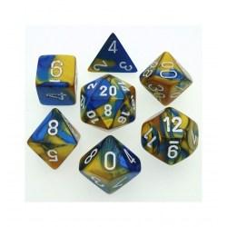Комплект D&D зарове: Chessex Gemini Blue-Gold & White в Зарове за игри