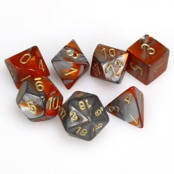 Комплект D&D зарове: Chessex Gemini Orange-Steel & Gold в Зарове за игри