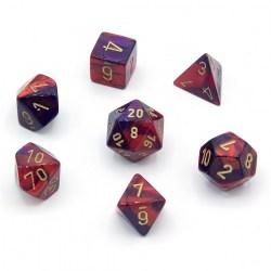 Комплект D&D зарове: Chessex Purple-Red & Gold в Зарове за игри