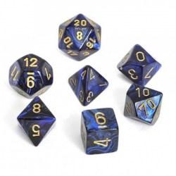 Комплект D&D зарове: Chessex Scarab Royal Blue & Gold в Аксесоари / Зарове за игри