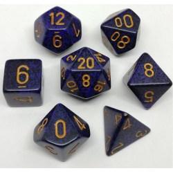 Комплект D&D зарове: Chessex Speckled Golden Cobalt в Зарове за игри