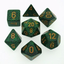 Polyhedral 7-Die Set: Chessex Speckled Golden Reckon in Dice sets