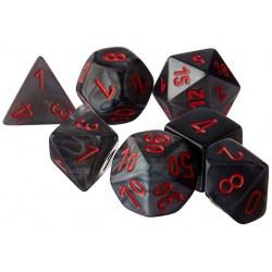 Комплект D&D зарове: Chessex Velvet Black & Red в Зарове за игри