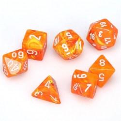 Комплект D&D зарове: Chessex Vortex Solar & White в Зарове за игри