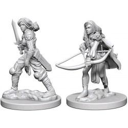 Pathfinder Battles Deep Cuts Unpainted Miniatures Wave 1 - Human Female Fighter в D&D и други RPG / D&D Миниатюри