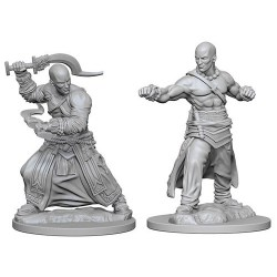 Pathfinder Battles Deep Cuts Unpainted Miniatures Wave 1 - Human Male Monk в D&D и други RPG / D&D Миниатюри