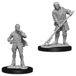 Pathfinder Battles Deep Cuts Unpainted Miniatures Wave 4: Townspeople (Farmer/Aristocrat) in D&D Miniatures