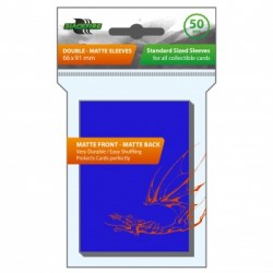 Протектори за карти 63.5x88мм Blackfire Sleeves - Standard Double-Matte Blue Sleeves (50, сини) в LCG, 63.5x88 мм)