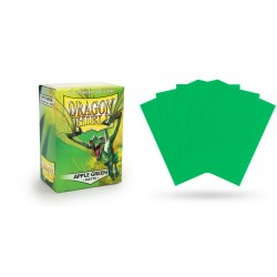 Dragon Shield - premium matt sleeves (Apple Green) 100 per pack in Standard Size (Magic, LCG игри и др., 63.5x88мм размер на картите)