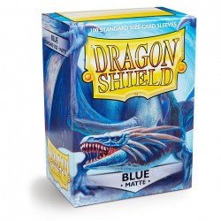 Dragon Shield - premium matt sleeves (matte blue) 100 per pack in Standard Size (Magic, LCG игри и др., 63.5x88мм размер на картите)