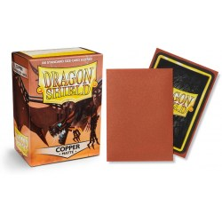 Dragon Shield - premium matt sleeves (Copper) 100 per pack in Standard Size (Magic, LCG игри и др., 63.5x88мм размер на картите)