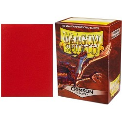 Dragon Shield Standard Sleeves - Matte Crimson - матови протектори за карти (пурпурни) 100 бр. в LCG, 63.5x88 мм)