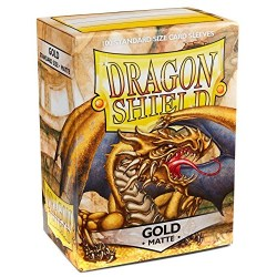 Dragon Shield - premium matt sleeves (Gold) 100 per pack in Standard Size (Magic, LCG игри и др., 63.5x88мм размер на картите)