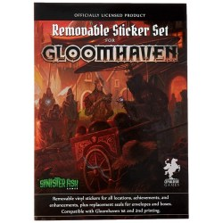 Gloomhaven: Removable Vinyl Sticker Set (2017) Board Game