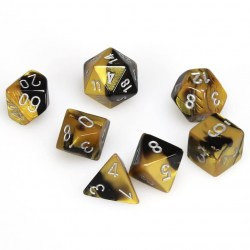 Комплект D&D зарове: Chessex Gemini Black/Gold & Silver в Зарове за игри