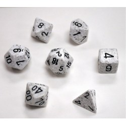 Polyhedral 7-Die Set: Chessex Speckled Arctic Camo in Dice sets
