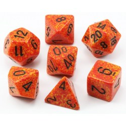 Polyhedral 7-Die Set: Chessex Speckled Fire in Dice sets