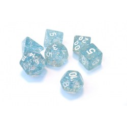 Dice 4 Friends Polyhedral 7-Die Set: Confetti Blue in D&D Dice Sets