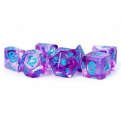 MDG Games: Unicorn Resin Polyhedral Dice Set - Violet Infusion in D&D Dice Sets