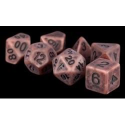 Metallic Dice Games- Ancient Copper Resin 16mm Resin Poly Dice Set в D&D и други RPG / D&D Зарове