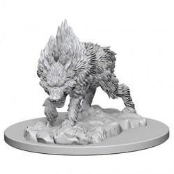 Pathfinder Battles Deep Cuts Unpainted Miniatures Wave 4 - Dire Wolf in D&D Miniatures
