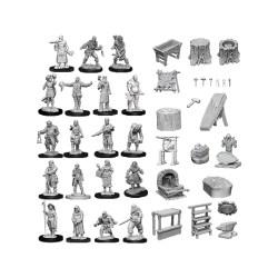 Pathfinder Deep Cuts Unpainted Miniatures: Wave 8 - Townspeople and Accessories (D&D, Pathfinder) в D&D и други RPG / D&D Миниатюри
