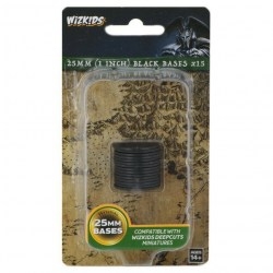 Wizkids Deep Cuts Unpainted Miniatures: 25mm Black Bases (15 pcs.) в D&D и други RPG / D&D Миниатюри
