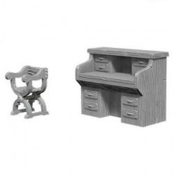 WizKids Deep Cuts Unpainted Miniatures Wave 5: Desk & Chair в D&D и други RPG / D&D Миниатюри