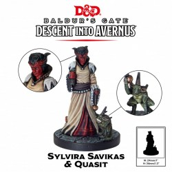 D&D Collector's Series: Descent Into Avernus - Slyvira Savikas & Quasit в D&D и други RPG / D&D Миниатюри