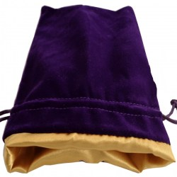 "Velvet Dice Bag - Purple with Gold Satin Lining 4x6"" (10*15cm) в Други аксесоари"