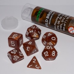 Blackfire Dice - 16mm Role Playing Dice Set - Wild Brown in D&D Dice Sets