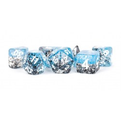 MDG Games: Particle Polyhedral Dice Set - Blue/Black with White in D&D Dice Sets