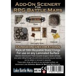 Loke Battle Mats: Add-On Scenery for RPG Battle Mats - Dungeon Decorations (5 sheets of 100+ reusable static clings) в D&D и други RPG / D&D / Pathfinder терен