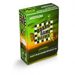 Матови 57x89 мм Arcane Tinmen Premium Standard American Sleeves протектори за карти (50 броя, за настолни игри, прозрачни, плътни) в Standard USA (56x87 мм)