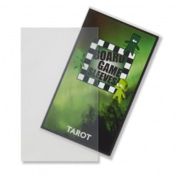 Матови 70x120 мм Arcane Tinmen Premium Tarot Sleeves протестори за карти (50 броя, за настолни игри, прозрачни, плътни) в Tarot Size (70x120 мм)